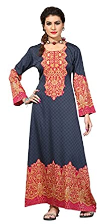 TrendyFashionMall Women's Printed Kaftans Maxi Dress Multiple Colors & Designs