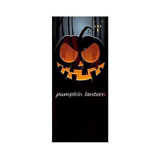 Halloween Pumpkin Head 3D Door Sticker Peel Stick