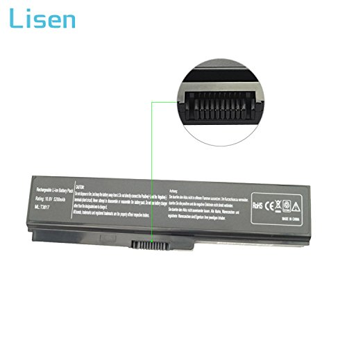 Lisen 5200mah PA3817U-1BRS Laptop Battery for Toshiba Satellite C655 L755 P755 L655 A665 A665-S6050 L745 C655D M645 P745 L675 L675D C675 C675D L645D L645 Series,Fits P/N: PA3818U-1BRS PA3819U-1BRS