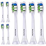 Compatible Philips Sonicare Optimal Plaque Control Brush Heads, 8 Pack, White. For ProtectiveClean 4100 5100 6100 Rechargeable Electric Toothbrush etc.This Product has Patent,Protected by US Law.