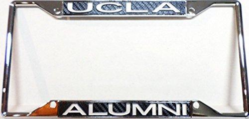 UCLA Bruins Carbon Alumni Cut 3-D Chrome Metal License Plate Frame