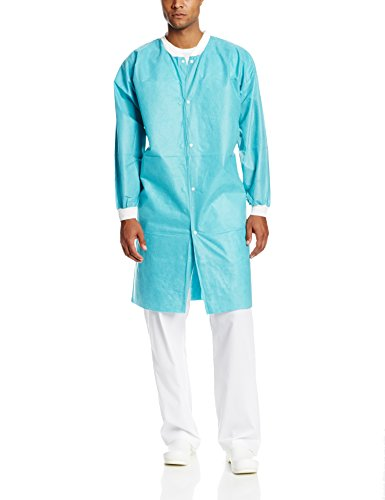 (ValuMax NP3560TEXL No Pocket Easy Breathe Cool and Strong, No-Wrinkle, Disposable SMS Knee Length Lab Coat, Teal, XL, Pack of 10)