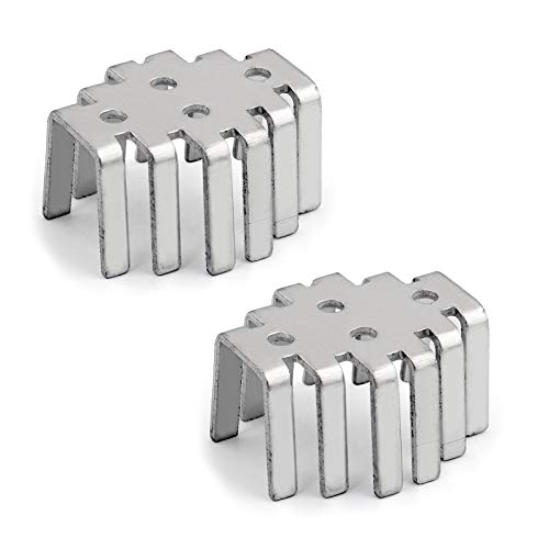 Areyourshop 2Pcs Aluminum Gold Seal Transistor Iron Radiator Cap Heat Sink to-3 Package (Gold Transistor)
