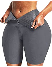CFR Womens Workout Breasted Corset Leggings High Waist Tummy Control Body Shaper Butt Lift Cincher Tights Yoga Pants