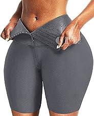 CFR Womens Workout Breasted Corset Leggings High Waist Tummy Control Body Shaper Butt Lift Cincher Tights Yoga