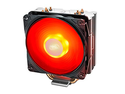 CPU Cooler DEEPCOOL GAMMAXX400V2 Red CPU Air Cooler with 4 H