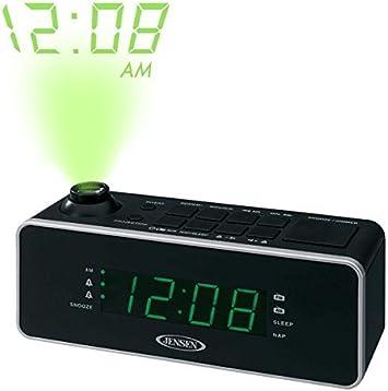 Amazon.com: Jensen Compact Tiempo Proyección Dual Alarm ...