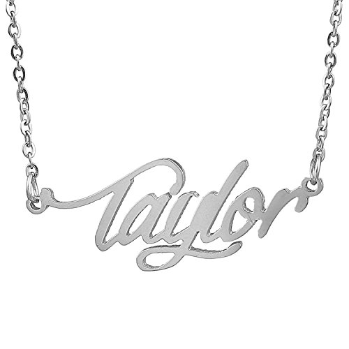 Lord & Taylor Pendant Necklace (HUAN XUN Stainless Steel Delicate Name Necklace, Taylor)