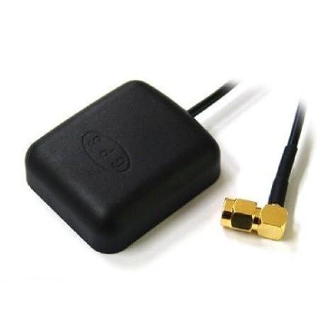 Kabell/änge 5m schwarz kj-vertrieb GPS Antenne mit MCX Anschluss und Magnetfu/ß