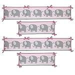 Bedtime-Originals-Eloise-4-Piece-Crib-Bumper-Pink