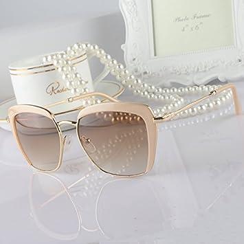 Sunyan Gafas de sol mujer marea versión coreana medio marco ...