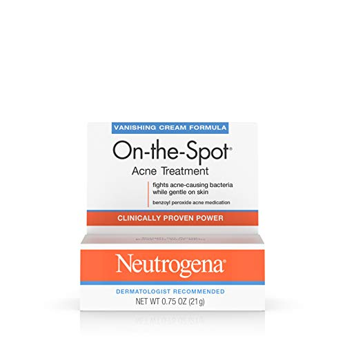 Neutrogena On-The-Spot Acne Spot Treatment with 2.5% Benzoyl Peroxide Acne Treatment Medicine to Treat Face Acne, Gentle Benzoyl Peroxide Pimple Gel for Acne Prone Skin, .75 oz (Best Drugstore Acne Spot Treatment)