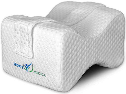Doctor Developed Luxury Knee Pillow - Orthopedic Memory Foam for Sciatica, Back Pain, Knee, Ankles - Free E-Book