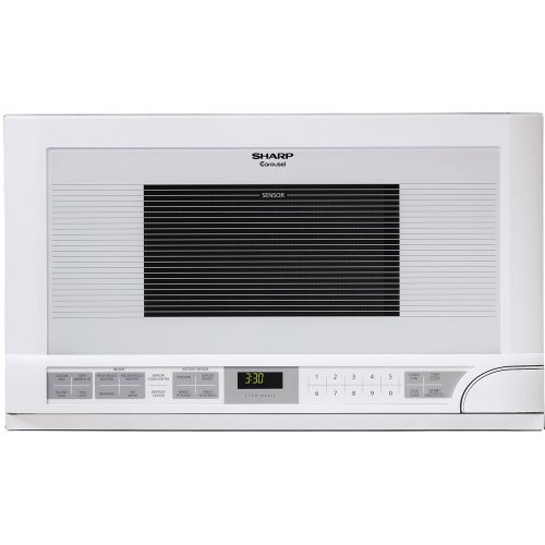 Sharp R-1211 1-1/2-Cubic Feet 1100-Watt Over-the-Counter Microwave, White ()
