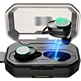 Wireless Bluetooth Earbuds - Quality Battery Durability, Wireless Earbuds 3000mAh Charging case & Built in Microphone, Sweatproof Earphones, Compatible All Bluetooth Devices. (Black)