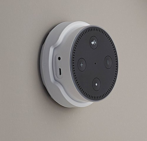 Sanus Wall Mount for Amazon Echo Dot (White) - Works On Walls Or Ceilings - Easily Attach Low-Profile Design To Any Surface - Designed To Avoid Sound Interference for Echo Dot 2nd Generation