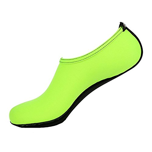MIUINCY Men Women and Kids Quick-Dry Water Shoes Lightweight Aqua Socks For Beach Pool Surf Yoga Green