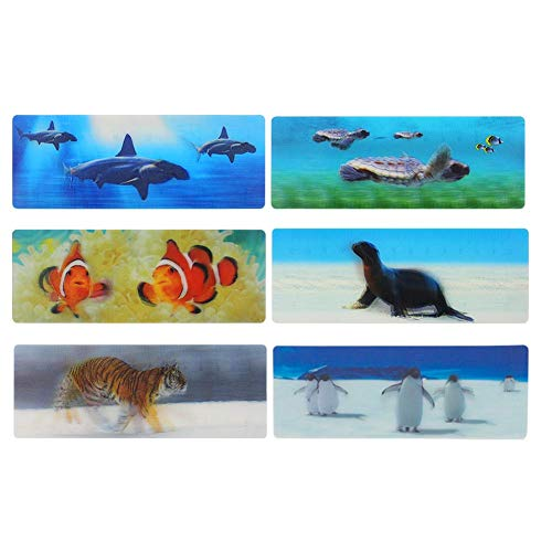3D Lenticular Bookmarks Fun Bookmarks for Kids (6pcs)]()