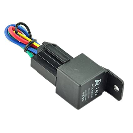 amazon com car auto truck relay socket spdt 12v 12 volt dc 40a rh amazon com Normally Closed Relay SPDT Relay Wiring Diagram