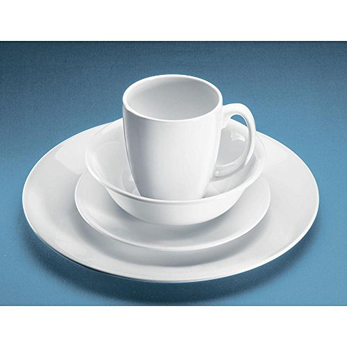 Corelle Winter Frost 32-Piece Vitrelle Dinnerware Set (Two 16 Pieces Set ) (Corelle Bone compare prices)