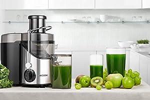 Licuadoras Para Verduras y Frutas, Aicook 3 Velocidades Licuadora ...