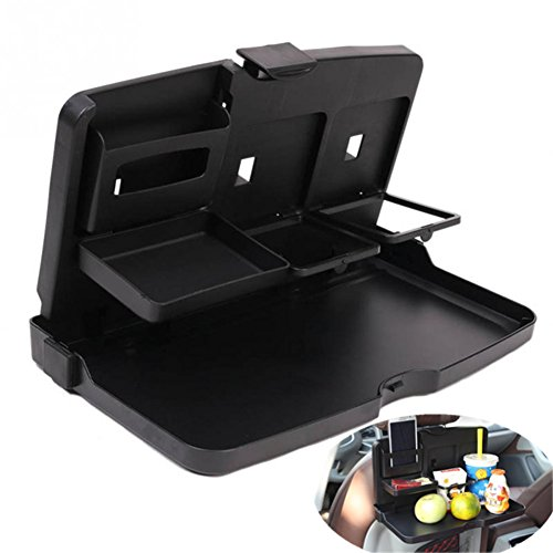 Car Laptop/Eating Back Seat Holder Desk Multi-Functional Portable Travel Oxford Fabric Car Vehicle Seat iPad Notebook Table Eating Desk Auto Drink Food Cup Work Mount Stand Holder Table Organizer
