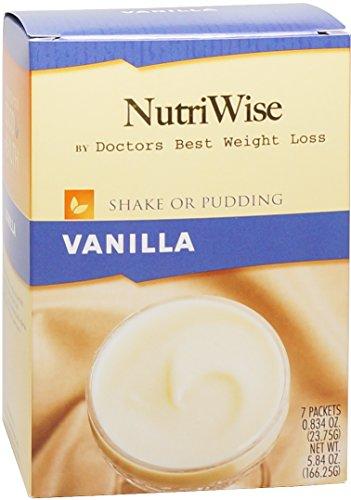 NutriWise - vanille diète protéinée Agiter / Pudding (7 / Box)