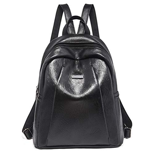 Heartell Women Preppy Style Solid Color PU Leather Backpack Ladies Teenager Tote Handbag Purse by Heartell