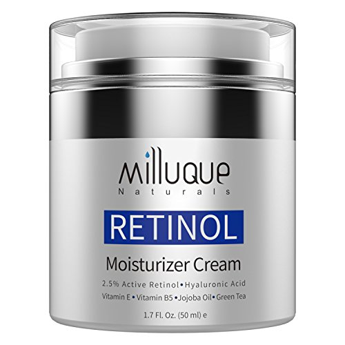 Retinol Cream Face Moisturizer, with 2.5% Active Retinol, Hyaluronic Acid & Vitamin E, Day and Night Cream, Anti Aging and Anti Wrinkle. ()