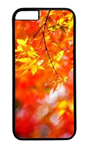 MOKSHOP Adorable autumn maple tree foliage Hard Case Protective Shell Cell Phone Cover For Apple Iphone 6 (4.7 Inch) - PC Black