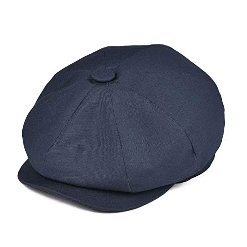 JANGOUL Kids Cotton Cap Baby Boy Girl Newsboy Caps Infant Toddler Child Youth Beret Hat Ivy Gatsby Cap (48cm, Canvas Cotton-Navy)]()