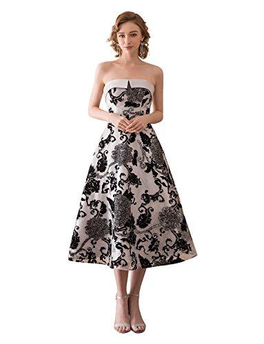 Abendkleider Erosebridal Eleganz Trägerlos Tee Ballkleider Vintage Länge TqYvZT