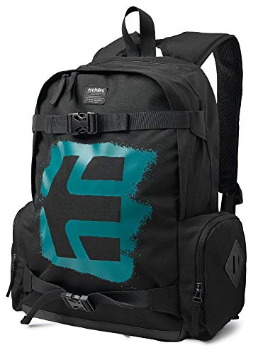 [해외]Etnies 남성 필수 스케이트 가방 블랙 청록색 크기 없음 크기 / Etnies Men Essential Skate Bag Black Teal Size No Size