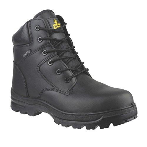 Amblers FS006C Metall Frei Sicherheit Stiefel Schwarz Größe 8