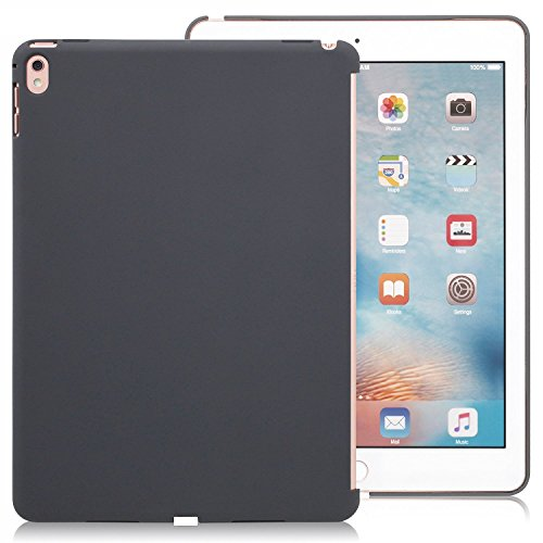 Ipad Black Silicone (iPad Pro 9.7 Inch Charcoal Gray Cover - Companion Cover - Perfect match for smart)