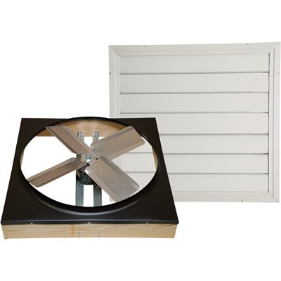 Ventamatic Whole House Fan - 24in., Direct-Drive, Model# (Direct Drive Whole House Fan)