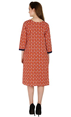 Indiankala4U Orange Damen Kleid Indiankala4U Damen Orange fYfrZqx