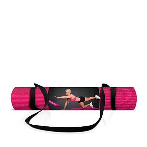 Tko Yoga Mat With Sling 5mm Fuschia Yoga Mats Roman