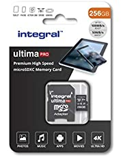 Integral 256GB Micro SD Card 4K Video Premium High Speed Memory Card microSDXC Up to 100MB/s V30 UHS-I U3 A1 C10