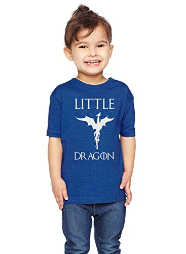 Brain Juice Tees Little Dragon Game Of Thrones Unisex Toddler Shirt (3T, Vintage Royal) (Dragon Girl Game Of Thrones)