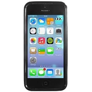 STK Custodia per iPhone 5C TPU, Nero - mobile phone cases (Nero) Negro