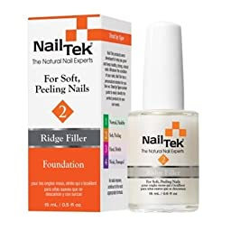 Nail Tek- Foundation II Base Coat- Ridge-Filling Nail Strengthener- For Strong Healthy Nails- .5oz
