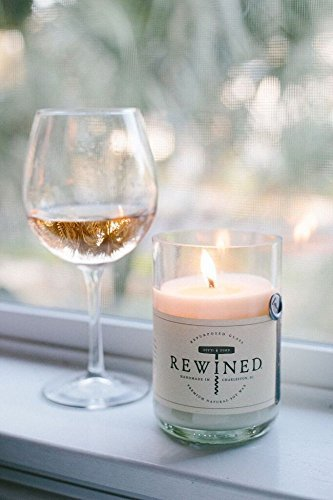 Rewined Rose Fragrance Soy Wax Scented Candle with Notes of Rose Petal, White Peach, Pink Peppercorn and Crisp Minerality - Scented candle with notes of rose petal, white peach, pink peppercorn, and crisp minerality. Perfect gift for housewarming, shower, wine lovers,  bridesmaids, Mother's, and friends! Handmade in Charleston, SC. - living-room-decor, living-room, candles - 41tqE2EkziL -
