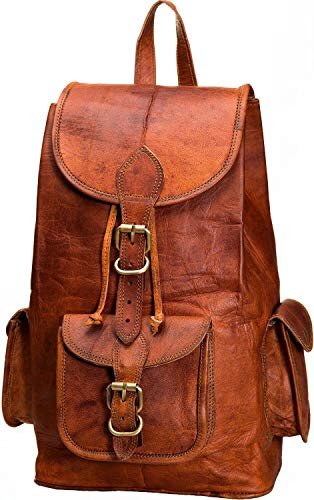 ae7359d4c5 Urban Leather New Improved 16 Inch Vintage Brown Leather Backpack for Men