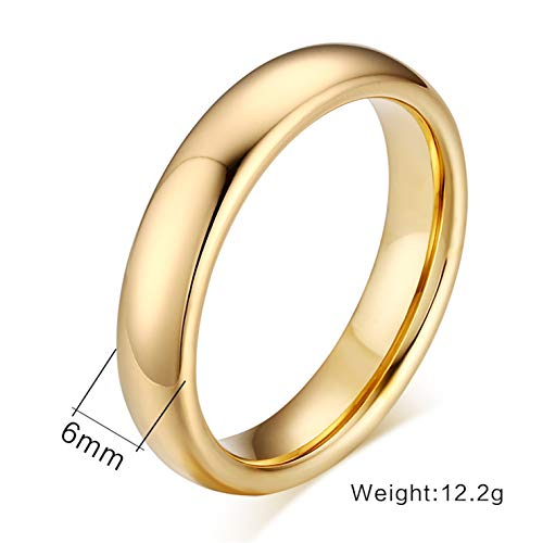 Vintage Tungsten Carbide Wedding Rings for Couple Solid Gold Color Lover's Engagement Anel Male Jewelry F