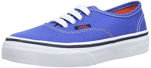 Vans  K Authentic,  Unisex Kinder Hohe Sneakers Blau (Strong Blue/Nasturtium)