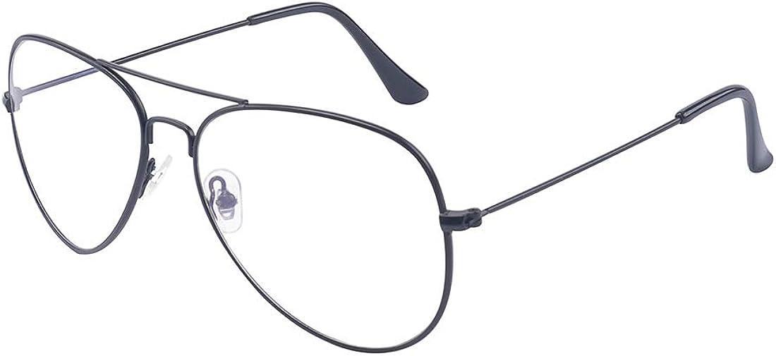 Outray alla moda occhiali classici in metallo con lenti trasparenti per donne e uomini