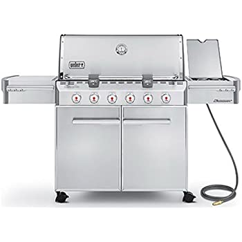 Weber Summit 7420001 S-620 Stainless-Steel 838-Square-Inch 60,800-BTU Natural-Gas Grill