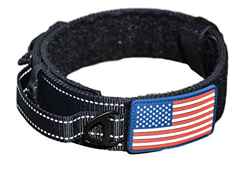 Dog Collar With Control Handle Quick Release Metal Buckle Heavy Duty Military Style Adjustable 2