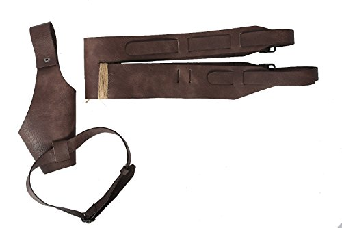 - Xcoser Rey Belt Prop Holster Deluxe Brown PU Cool Adult Cosplay Costume Accessory SW 8
